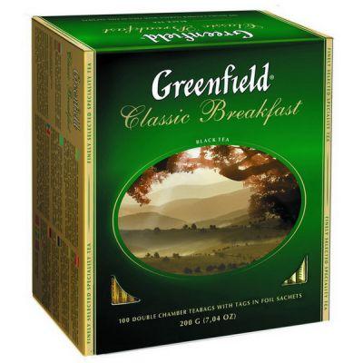 Чай Greenfield Classic Breakfast (в пакетиках, 100х2г, черный) 0833-10