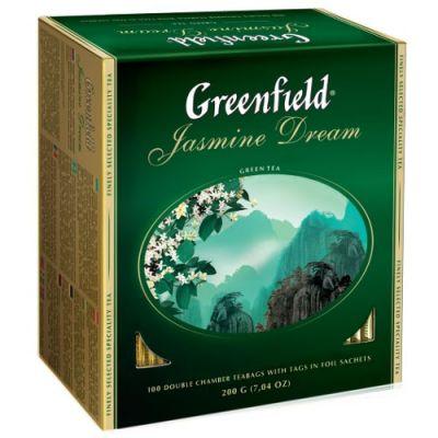 Чай Greenfield Jasmine Dream (в пакетиках, 100х2г, зеленый) 0836-10