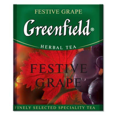 Чай Greenfield Festive Grape (в пакетиках, 100х2г, травяной) 0837-10