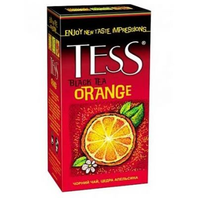 Чай TESS Orange (в пакетиках, 25х1,5г, черный) 0647-10