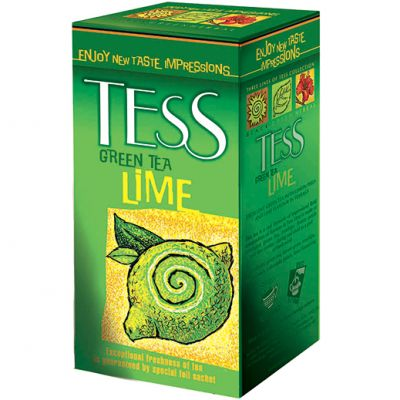 Чай TESS Lime (в пакетиках, 25х1,5г, зеленый) 0596-10