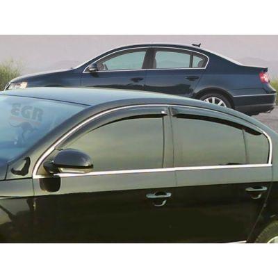 Дефлекторы EGR на боковые окна накладные VW Passat B6 2005-> 4 части (тёмные) EG 92496018B