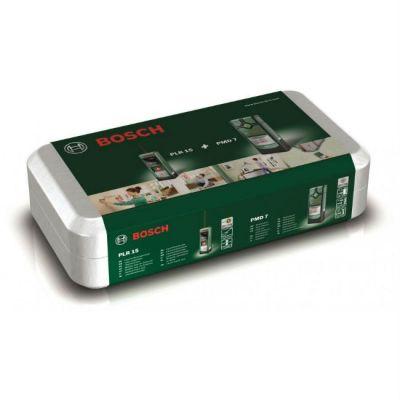 Дальномер Bosch лазерный PLR 15 + детектор металла PMD 7 0603672002