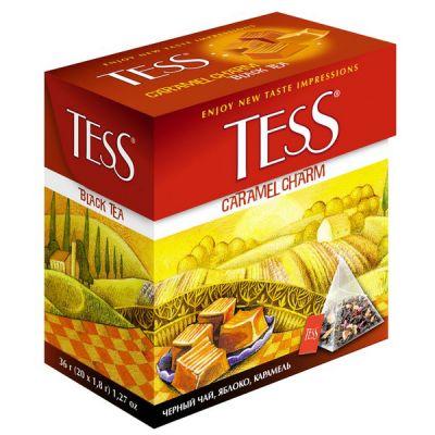 Чай TESS Caramel Charm (в пирамидках, 20х1,8г, черный) 0883-12