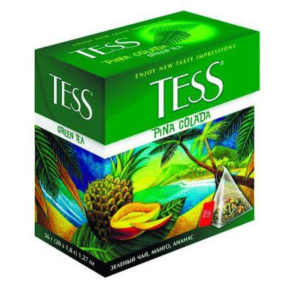 Чай TESS Pina Colada (в пирамидках, 20х1,8г, зеленый) 0787-12