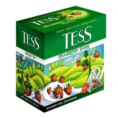 Чай TESS Strawberry Shake (в пирамидках, 20х2г, зеленый) 0884-12