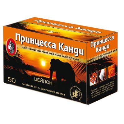 Чай Принцесса Канди Цейлон (в пакетиках, 50х2г, черный) 0299-32