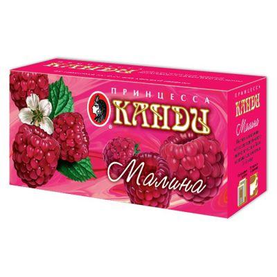 Чай Принцесса Канди Малина (в пакетиках, 25х1,5г, черный) 0683-32