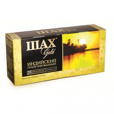 Чай ШАХ Gold (в пакетиках, 25х2г, черный) 0924-72