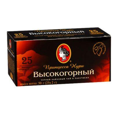 Чай Принцесса Нури Высокогорный (в пакетиках, 25х2г, черный) 0197-72
