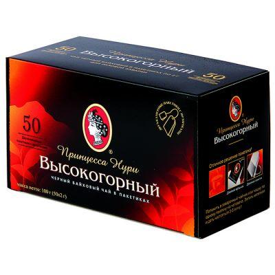 Чай Принцесса Нури Высокогорный (в пакетиках, 50х2г, черный) 0199-36