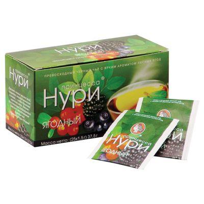 Чай Принцесса Нури Ягодный (в пакетиках, 25х1,5г, черный) 0478-32