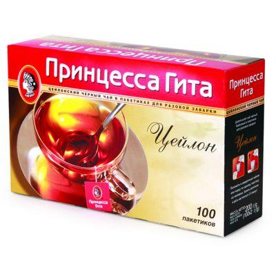 Чай Принцесса Гита Цейлон (в пакетиках, 100х2г, черный) 0706-16