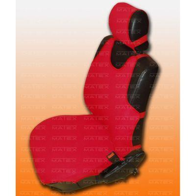 Чехол на сиденья автомобиля Matex (майка) универсальный на переднии сиденья, материал Блеск №6 микроавтобус 1+2 (красные 2 части + 3 подголовника) IP 04-00136