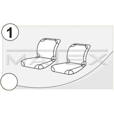 Чехол на сиденья автомобиля Matex (майка) универсальный на переднии сиденья, материал Х/Б №1 (зелёные 2 части) IP 04-00050