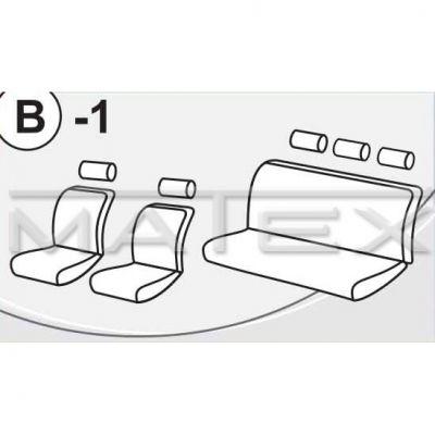 Чехол на сиденья автомобиля Matex универсальный, материал Велюр, размер B-1 ACC05-00087