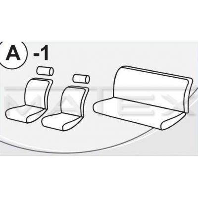 Чехол на сиденья автомобиля Matex универсальный, материал Жаккард, размер A-1 ACC05-00097