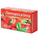 Чай Принцесса Гита Клубника (в пакетиках, 24х1,5г, черный) 0658-36