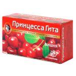 Чай Принцесса Гита Вишня (в пакетиках, 24х1,5г, черный) 0656-36