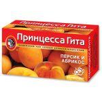 Чай Принцесса Гита Персик и Абрикос (в пакетиках, 24х1,5г, черный) 0662-36