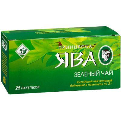 Чай Принцесса Ява Зеленый (в пакетиках, 25х2г, зеленый) 0222-72