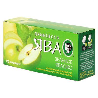 Чай Принцесса Ява Зеленое Яблоко (в пакетиках, 25х1,5г, зеленый) 0438-72
