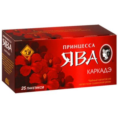 Чай Принцесса Ява Каркадэ (в пакетиках, 25х1,5г, травяной) 0350-42