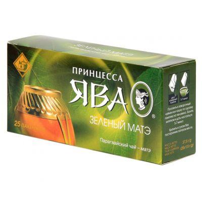 Чай Принцесса Ява Зеленый Матэ (в пакетиках, 25х1,5г, травяной) 0459-32