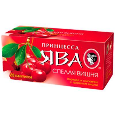 Чай Принцесса Ява Спелая вишня (в пакетиках, 25х1,5г, травяной) 0446-42