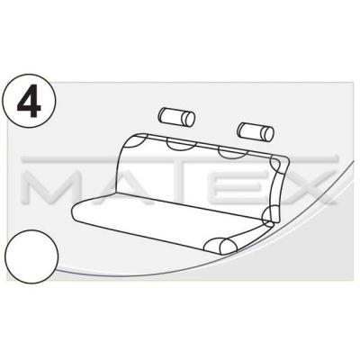 Чехол на сиденья автомобиля Matex (майка) универсальный на заднее сиденье, материал Х/Б №4 спинка сплошная (синий + 2 подголовника) IP 04-00099
