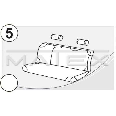 Чехол на сиденья автомобиля Matex (майка) универсальный на заднее сиденье, материал Х/Б №5 спинка 1/3+2/3 (красный + 2 подголовника) IP 04-00116