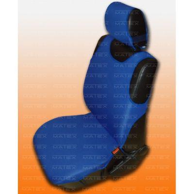 Чехол на сиденья автомобиля Matex (майка) универсальный на заднее сиденье, материал Х/Б №5 спинка 1/3+2/3 (синий + 2 подголовника) IP 04-00115