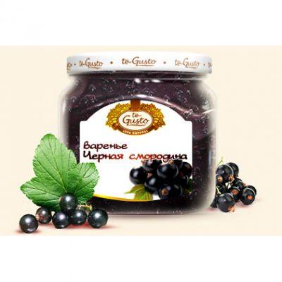 Варенье te Gusto из черной смородины (470 гр.)