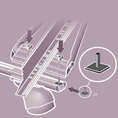 Адаптер Automaxi для установки велокреплений в Т-образный профиль (4 шт/компл) AX 330490