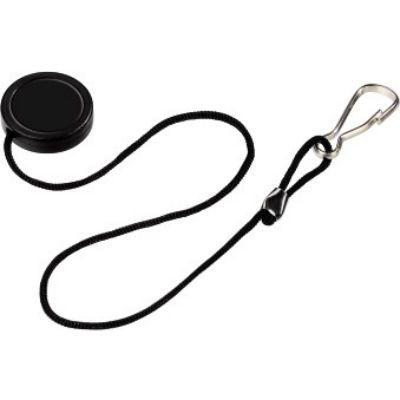 Hama Держатель H-5899 для крышки объектива с карабином черный 00005899