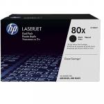 Картридж HP 80X, 2шт, Black/Черный (CF280XF)