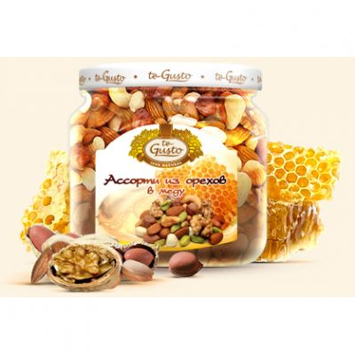 te Gusto ассорти из орехов в меду (300 гр.)