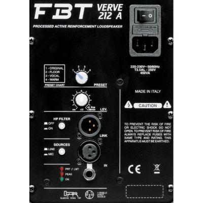 Акустическая система FBT Verve 212A (активная)