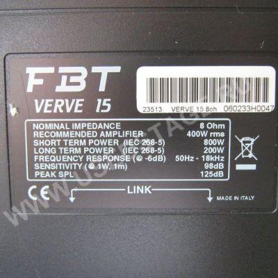 Акустическая система FBT Verve 15 (пассивная)