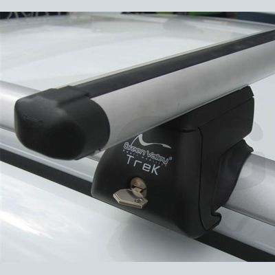 Багажник на крышу Green Valley на рейлинги TREK-ORIGINAL алюм. 120 см (2 аэро+4 упора) GV 155920