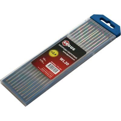 Quattro Elementi Электроды сварочные вольфрамовые, 2,4 мм, длина 175 мм, тип WL 20, 10 шт в пласт. пенале 771-381
