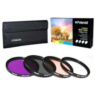 Polaroid Набор фильтров Polaroid UV+CPL+FLD+WARMING 72мм PL4FIL72