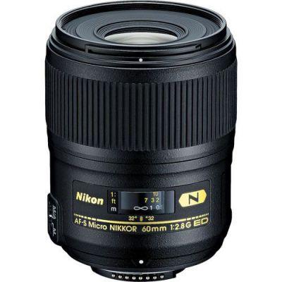 Объектив для фотоаппарата Nikon 60mm f/2.8G ED AF-S Micro-Nikkor JAA632DB