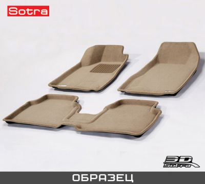 Sotra Коврики салона текст.BMW 7** F01 SWB 2012-> restyling LINER 3D Lux с бортиком бежевые ST 74-00512
