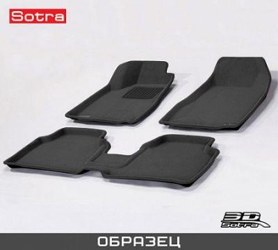 Коврики в салон Sotra текст.Jeep Compass 2013-> restyling LINER 3D Lux с бортиком черные ST 74-00517