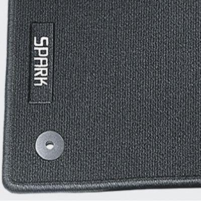 Sotra Коврики салона текст.Chevrolet Spark 2005-2009 TXT-вставка, флок серый Libe style STR44-00316