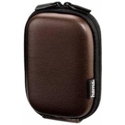 Сумка Hama для фотоаппарата Hardcase Leather Look 40G brown 9.7х6x2.5см 121829