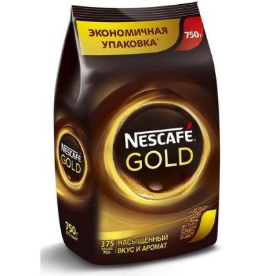 Кофе Nescafe Gold (750г, растворимый сублимированный, в мягкой упаковке)