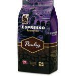 Кофе Paulig Espresso Favorito (1000г, в зернах, жареный, Смеси Арабики и Робусты)