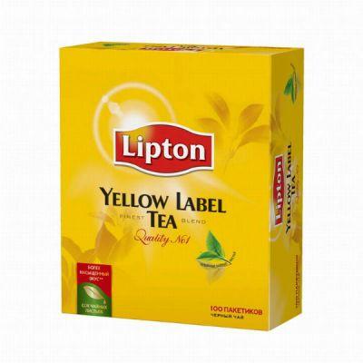 Чай Lipton Yellow Label (в пакетиках, 100х2г, черный)